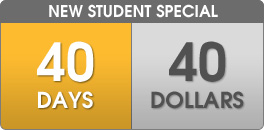 New Student Special: 40 Days for 40 Dollars